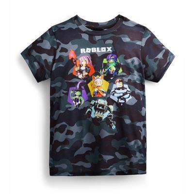 Older Boy Camouflage Print Roblox T-Shirt