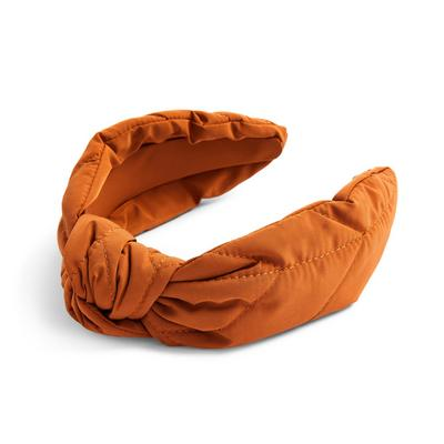 Burnt Orange Nylon Commuter Knot Headband