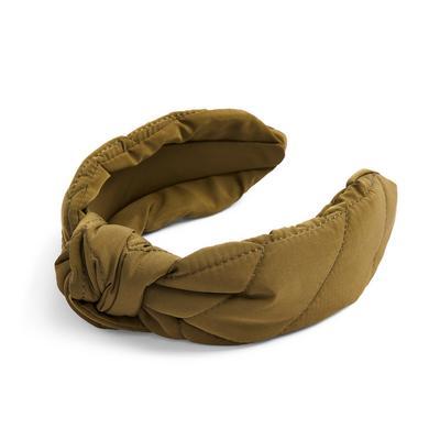 Khaki Nylon Commuter Knot Headband