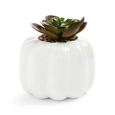 Autumnal Pumpkin Shaped Faux Plant Pot