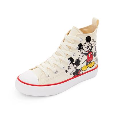 Ivory Disney Mickey Mouse Nostalgia High Top Trainers