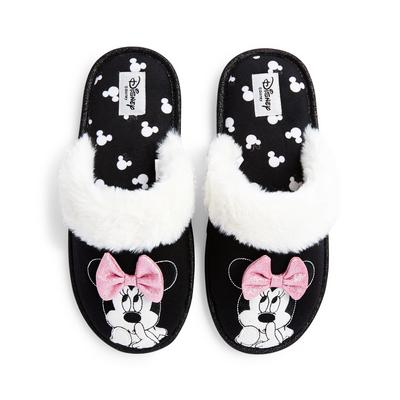 Chaussons noirs Disney Minnie Mouse
