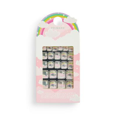 Cloud Print Kids Press On Nails
