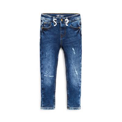 Younger Boy Blue Denim Skinny Tie Waist Jeans