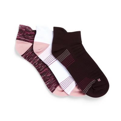 3-Pack Multi Blister Resist Ankle Socks