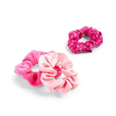 Roze haarwikkels, set van 3