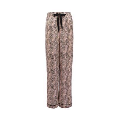 Pink Print Satin Pajama Leggings