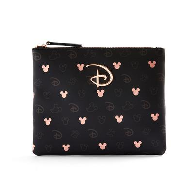 Rose Gold Monochrome Disney Mickey And Minnie Mouse Zip Pouch