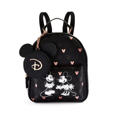Rose Gold Black Disney Mickey And Minnie Mouse Backpack