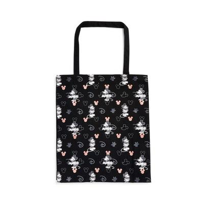 Rose Gold Black Disney Mickey And Minnie Mouse Tote
