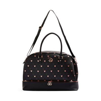 Rose Gold Monochrome Disney Mickey And Minnie Mouse Weekend Bag
