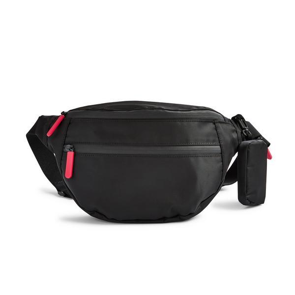 Black Go Hiking Double Zip Bumbag