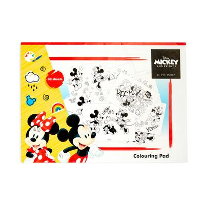 Disney Mickey And Minnie Mouse Colouring Pad A3