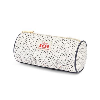 White 101 Dalmatians Print Cylinder Pencil Case