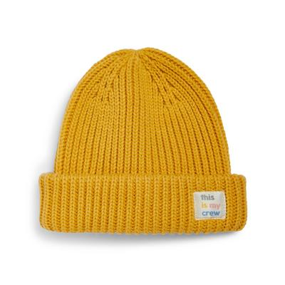 Stacey Solomon Yellow Beanie Hat