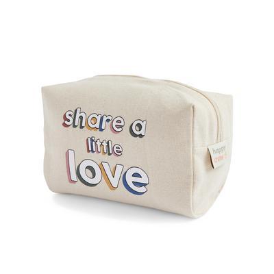 Stacey Solomon Ivory Slogan Toiletry Bag