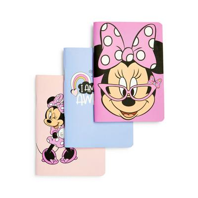 3-Pack Pink Disney Minnie Mouse A6 Notebooks