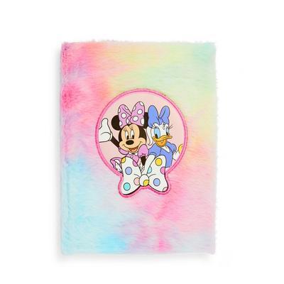 Meerkleurig pluizig A5-notitieboek Disney Minnie Mouse met tie-dye-effect