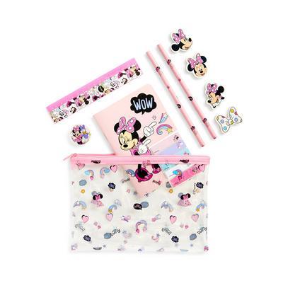 Rožnat majhen komplet pisalnih potrebščin Disney Mini Miška