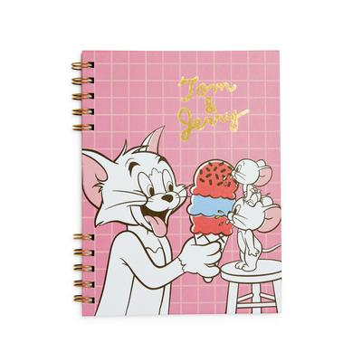 Pink Tom And Gerry A5 Notebook