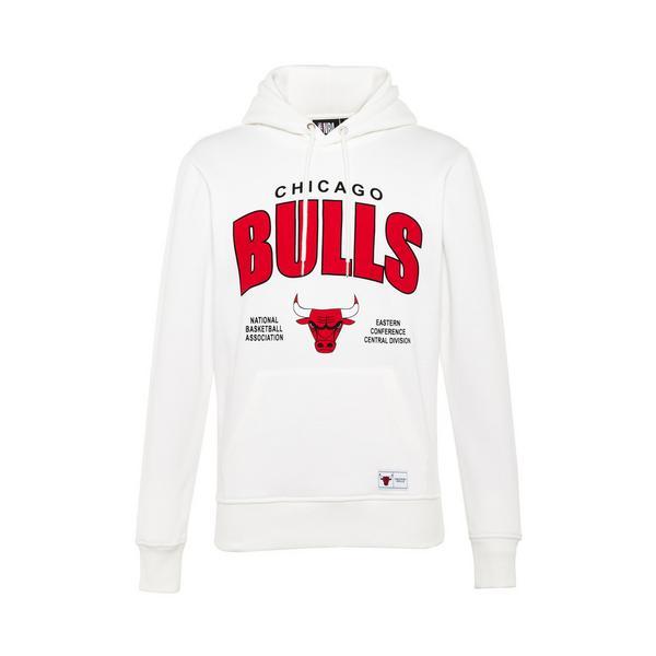 White NBA Chicago Bulls Overhead Hoodie