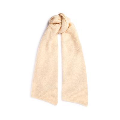 Cream Ripple Knit Scarf