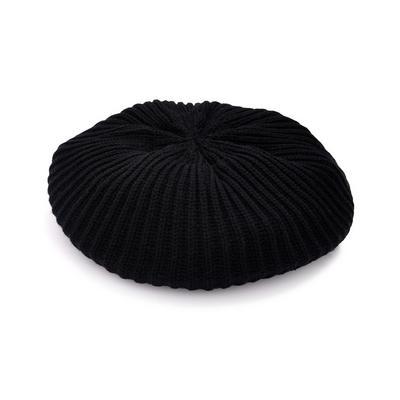 Black Knitted Beret Hat