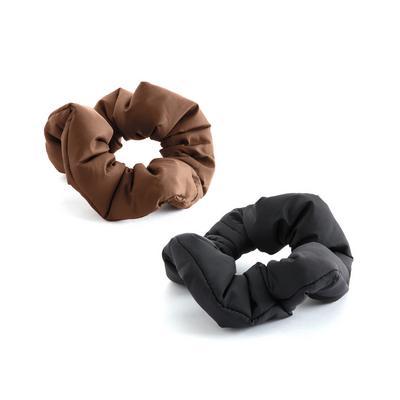 2-Pack Multi Nylon Puffy Scrunchies