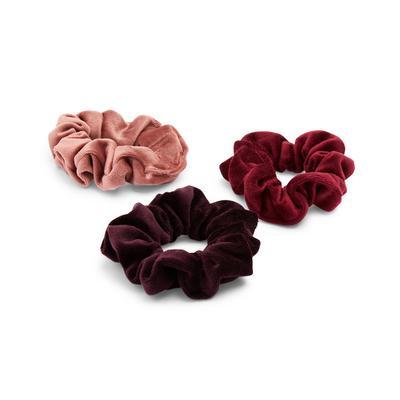 3-Pack Warm Tones Scrunchies