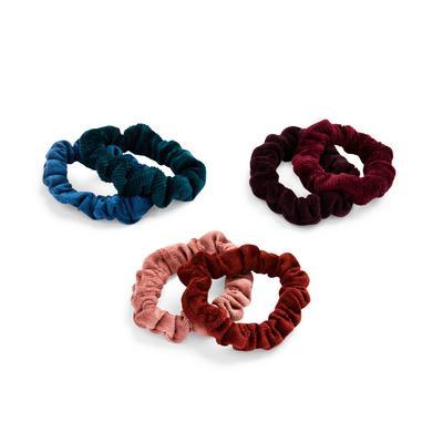 Mixed Colour Super Soft Scrunchies 6 Pack