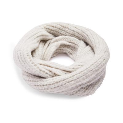 Gray Chunky Knit Infinity Scarf