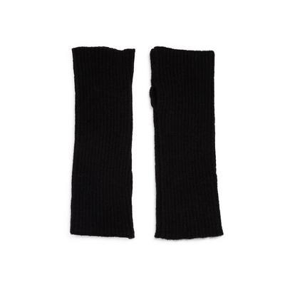 Black Ribbed Wrist Warmers