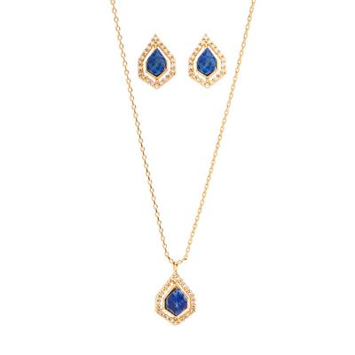 3-Piece Christmas Gifting Gold Plated Earrings And Necklace Set