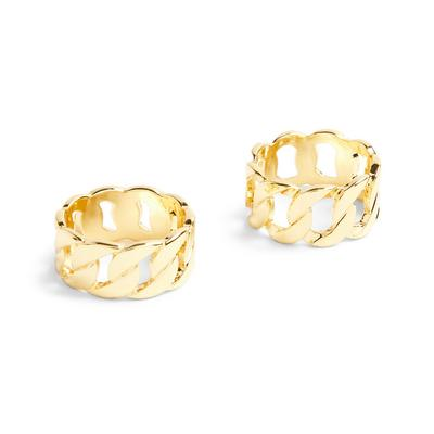 Goldtone Chain Rings 2 Pack