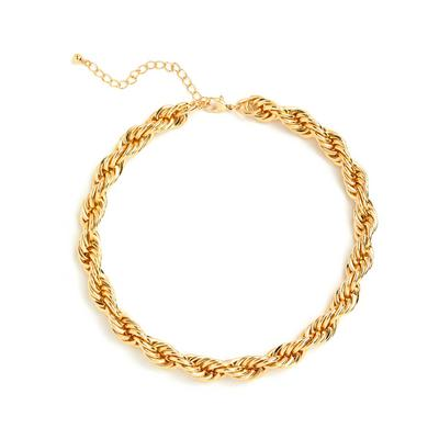 Goldtone Chunky Rope Necklace